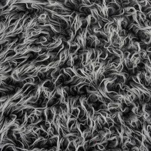 Preiswert Webpelz Preiswert gelocktes Pelzimitat in der Farbe mattschwarz – AC530 Black Frost