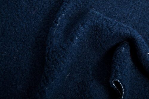 Preiswert Webpelz Meterware Einfarbiges Lammfell Fleece, Anti-Pilling, marineblau – A1548 Navy