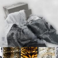 Resten und Ausschnitten Hobby-Kreativbox: Tiermuster Stoffreste und Ausschnitte