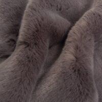 Luxus Webpelz Kaninchen/Nerz Webpelzstoff am laufmeter, grau – 6006 Dark grey